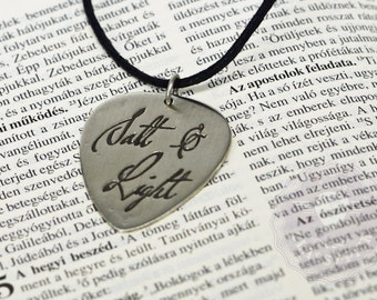 Salt and Light, Bible, biblical quote necklace