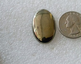 golden pyrite cabochon natural gemstone 41.10cts  size 30x20x3mm