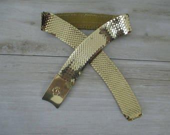 Vintage Gold Tone Stretch Belt