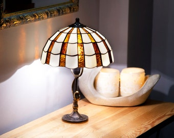 Table lamp pansy stained glass lamp desk lamp nightstand library lights reading lamp desk lamp table lamp stained glass lamp aloadofball Choice Image