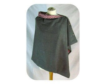 Grey and Pink Cape/Wrap