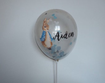 Peter Rabbit or Flopsy Personalised Party or Christening Ballon Small Standard 9 Inch Balloon