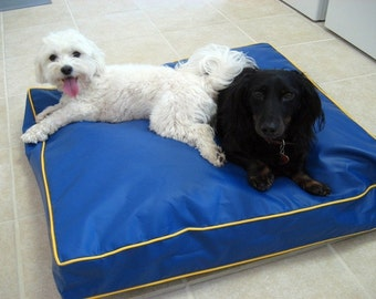 100% Waterproof Dog Pillow Cushion Cover, Dig Proof Cover, Dog Beds Anti-Mildew Replacement Cover, Easy To Clean Pet Beds, 16 Colors 24x24x4