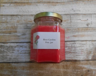 Soy Wax Candles, Warm Apple Pie, scented candle,  apple scented, apple pie scented, red candle, gift for her, mothers day gift, gift for mom