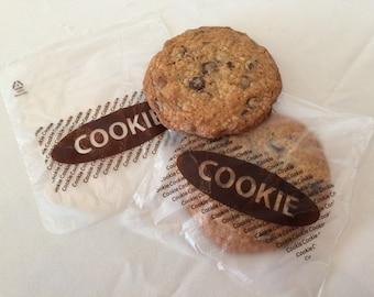 Cookie bags-the word cookie-bags for cookies-food crafting-christmas cookie packaging