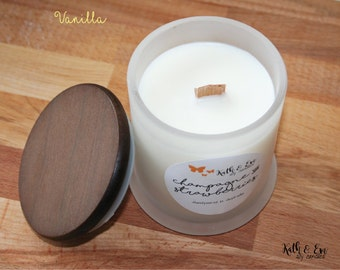 Vanilla | Large Woodwick Soy Candle