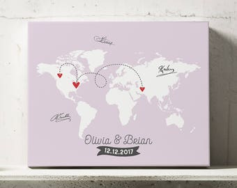 Map guest book etsy gumiabroncs Image collections