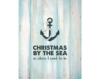 Christmas By The Sea Poster - Downloadable Print