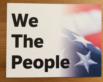 We The People postcards, postcards to voters, postcards to Congress, protest postcards, be a voter, get out the vote, power to the polls