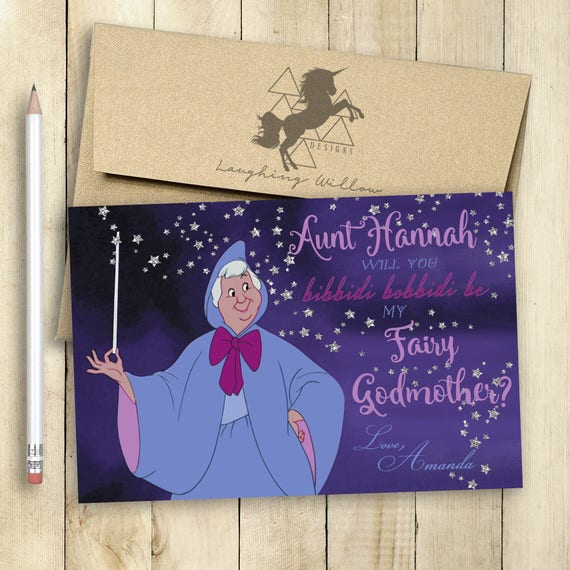 godmother fairy godmother card will you be my godmother card