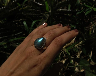 Size 7 Labradorite Sterling Silver Ring
