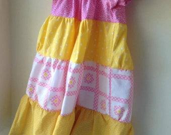 Little Girls Tiered Twirl Dress, Size 4/5