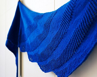 Molinara knit easy lace shawl pattern pdf instant download knitting pattern