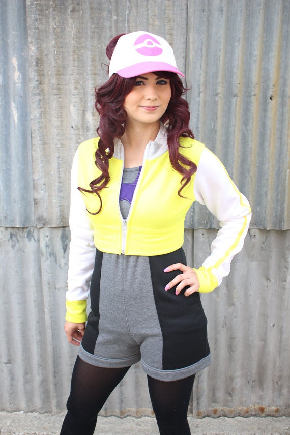 JACKET Cropped Pokemon Trainer Cosplay wQRRC