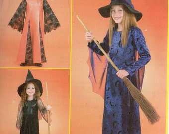 McCall's COSTUMES Pattern 4620 WITCH Child's/Girls' Sizes 3 4 5 6