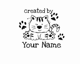 Handle Mounted Personalized custom made rubber stamps C30