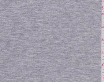 Heather Grey Modal Tencel Jersey Knit, Fabric By The Yard