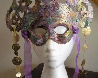 Mardi Gras Carnival Mask Hand Made Gorgeous