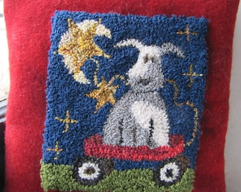 Pimitive Punchneedle Pattern Hitch your Wagon to a Star