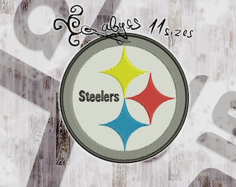 11 sizes in 10 formats! steelers Fullfilled Embroidery design DIGITAL INSTANT DOWNLOAD