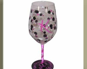 Will you be my Bridesmaid  Hand Painted Glass