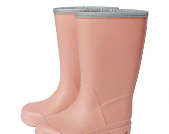 Peach gumboots - Kids rain boots - Girl gumboots - Girl rubber boots - Peach rain boots - Toddler rain boots - Stylish gumboots
