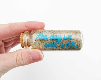 Wedding Sand Keepsake Bottle | FREE SHIPPING