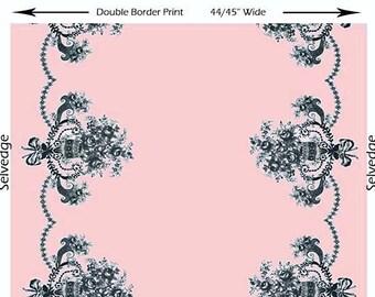 Rosa Border  Butterfly Garden by Michael Miller fabrics