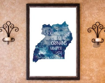 Home Decor - Adoption - Uganda Graphic Art