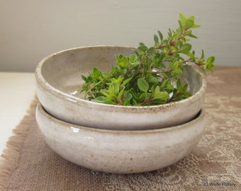 rustic pottery bowls - food prep
