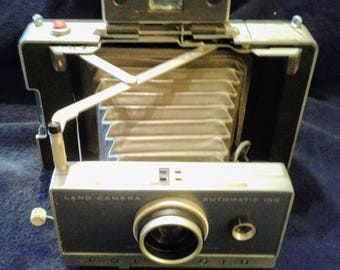 Vintage Polaroid Land Camera Automatic 100 Project Piece Art Deco