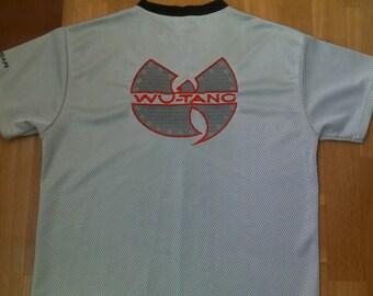 WU WEAR t-shirt, hip-hop jersey, vintage, official authentic Wu Tang Clan 90s hip hop clothing, 1990s Wu-Tang gangsta rap, cotton, size XL