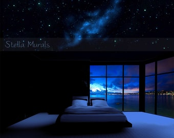 Orion | Glow in the Dark Star Ceiling Canopy | Starlight Bedroom Decor | Optional Realistic Star Stickers