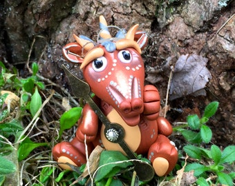 Polymer Clay Dragon 'Mordecai' - Limited Edition STEAMPUNK Collectible