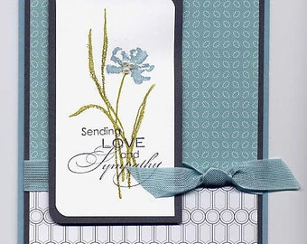 Stampin' Up! Love & Sympathy card (blue/white)