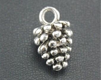 30pcs Antique Silver Pinecone Charms Pendant A1687