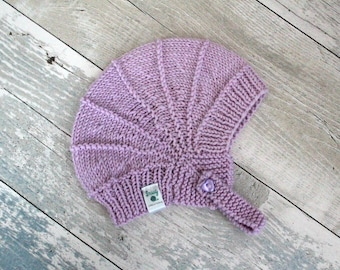 Baby Girl Hat, Baby Outfits for Girls Newborn Aviator Hat, Hand Knit Hat for Babies, Infant Girl Hat, First Birthday Gift, Girl Baby Gifts