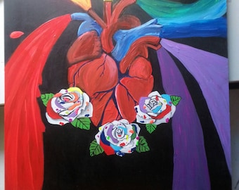Let your heart and soul shine original painting