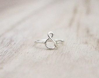 Ampersand ring, & ring, and ring, sterling silver rings, boho ring, minimalist ring, sterling silver, friendship ring, best friend ring