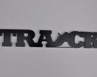 Track Word Metal Sign and Wall Decor