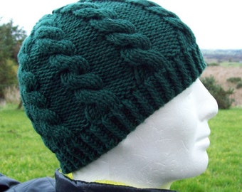Arran Knitted Hat with Webbing - Green Gucci rAwNZkd