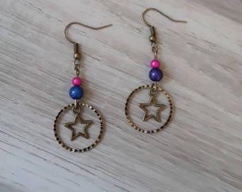 Earrings color bronze