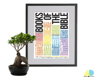 Books of the Bible Chart. Printable Design. 29x39cm. 11x17 in. DIY. PDF. Christian.