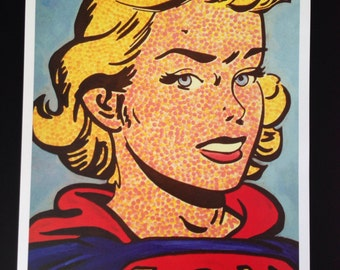 Super Girl Golden Age 11x17 print by Callie West