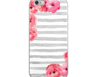 Gray Stripe iPhone Case