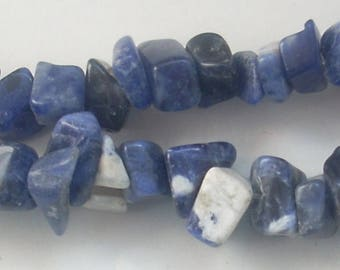 Strand 20 cm of stone chips gemstone Sodalite 3-5mm