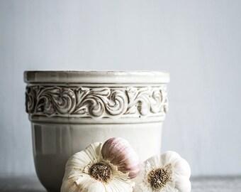 Food Photography, Still Life, Garlic, Wall Art, Home Decor, Restaurant Decor