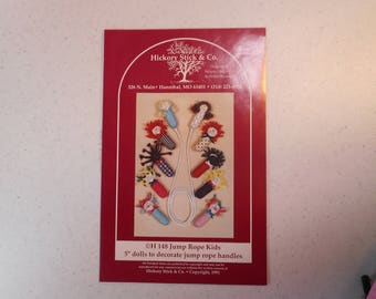 """Jump Rope Dolls - Soft Fabric 5"""" Dolls fit over the handles of a jump rope"""