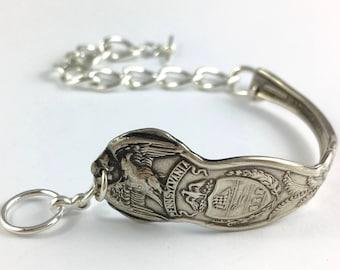 Pennsylvania Bracelet, Pennsylvania Jewelry, Spoon Bracelet, Spoon Jewelry, Pennsylvania Seal, Vintage Pennsylvania, Pennsylvania Woman