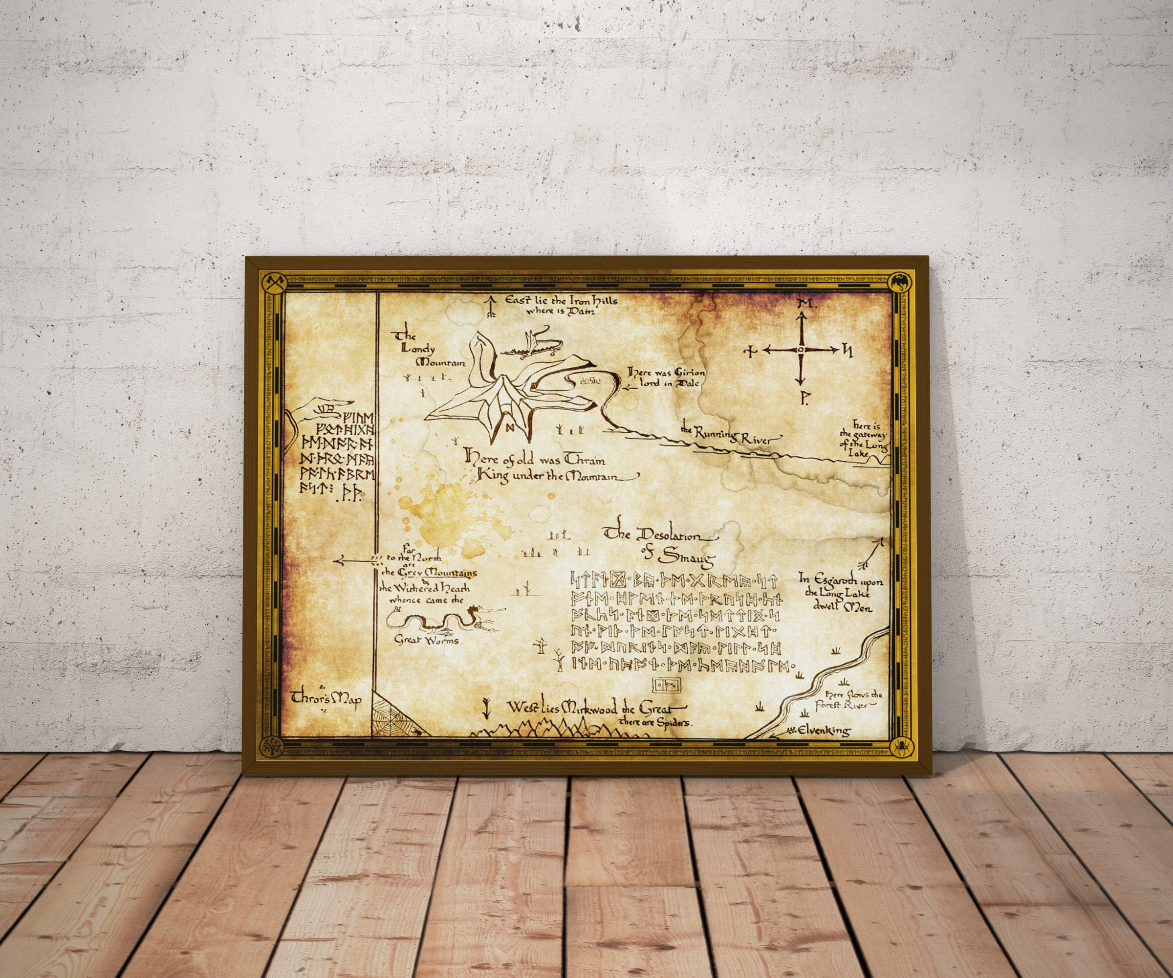 The Hobbit The Hobbit Art Middle Earth Gift For Him Gift